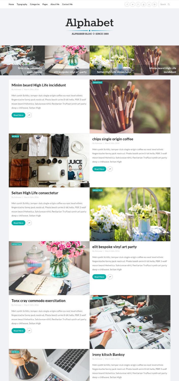 Alphabet - WordPress Theme For Art Bloggers