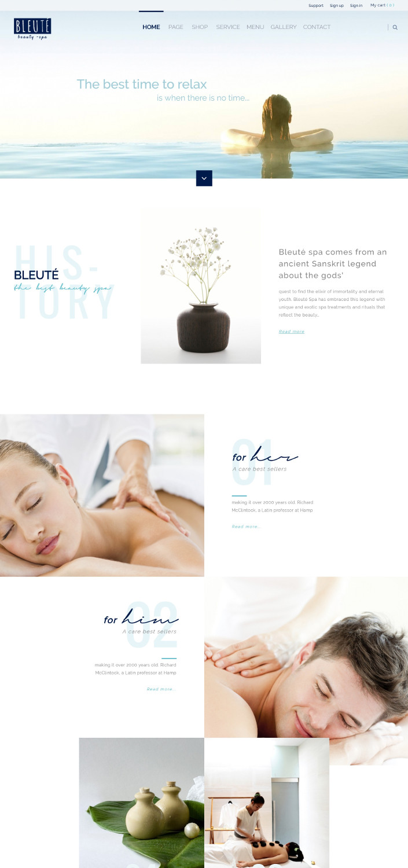 Bleuté - Makeup & Beauty Theme