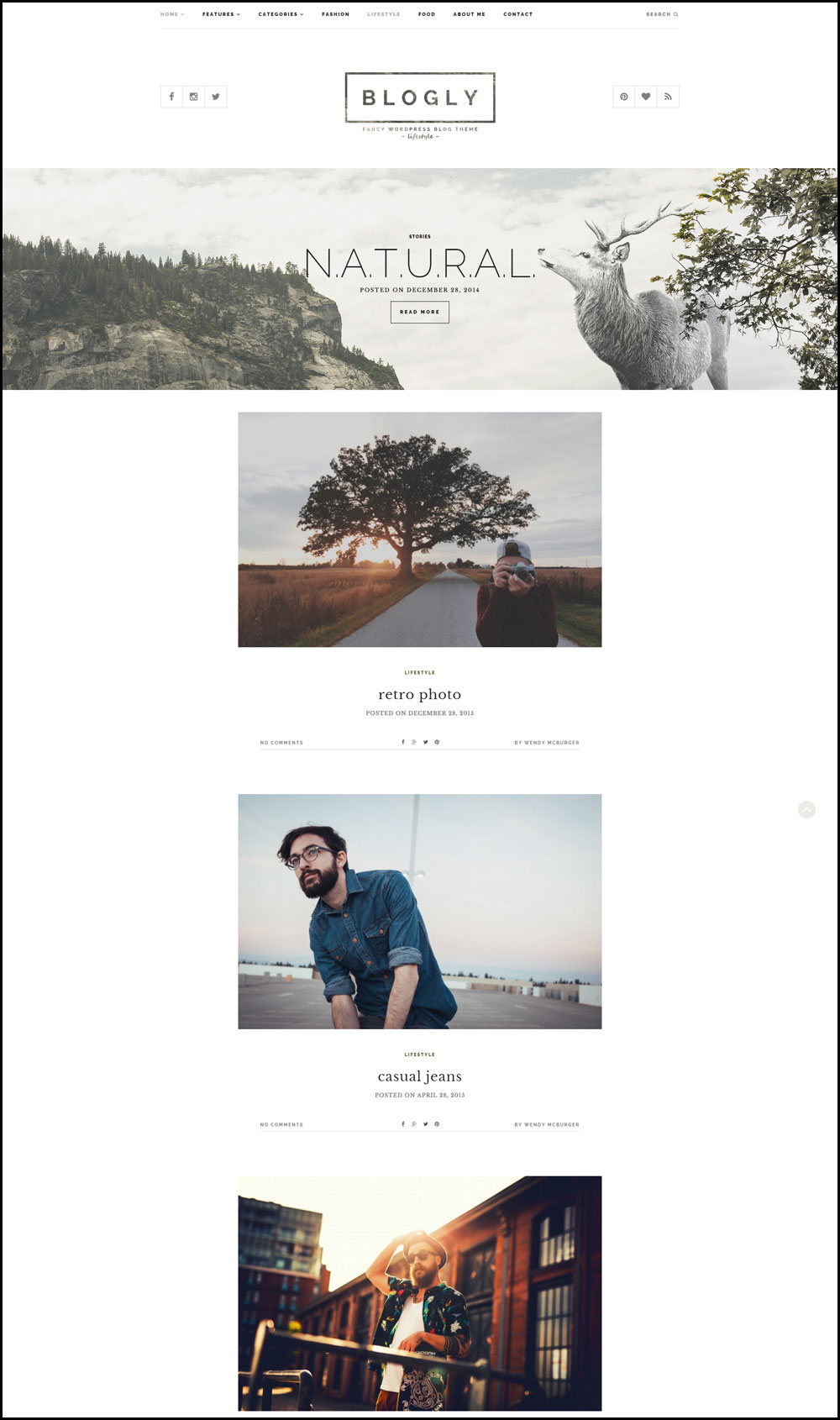 Blogly – A Fresh Looking Lifestyle Blog Theme