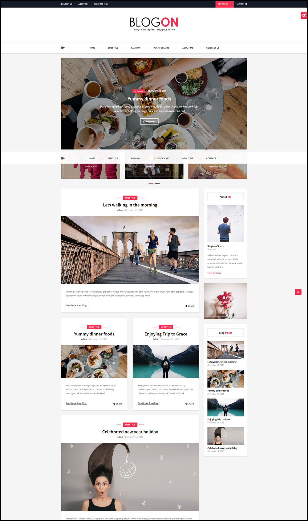 Blogon – A Responsive WordPress Theme For Travel Bloggers