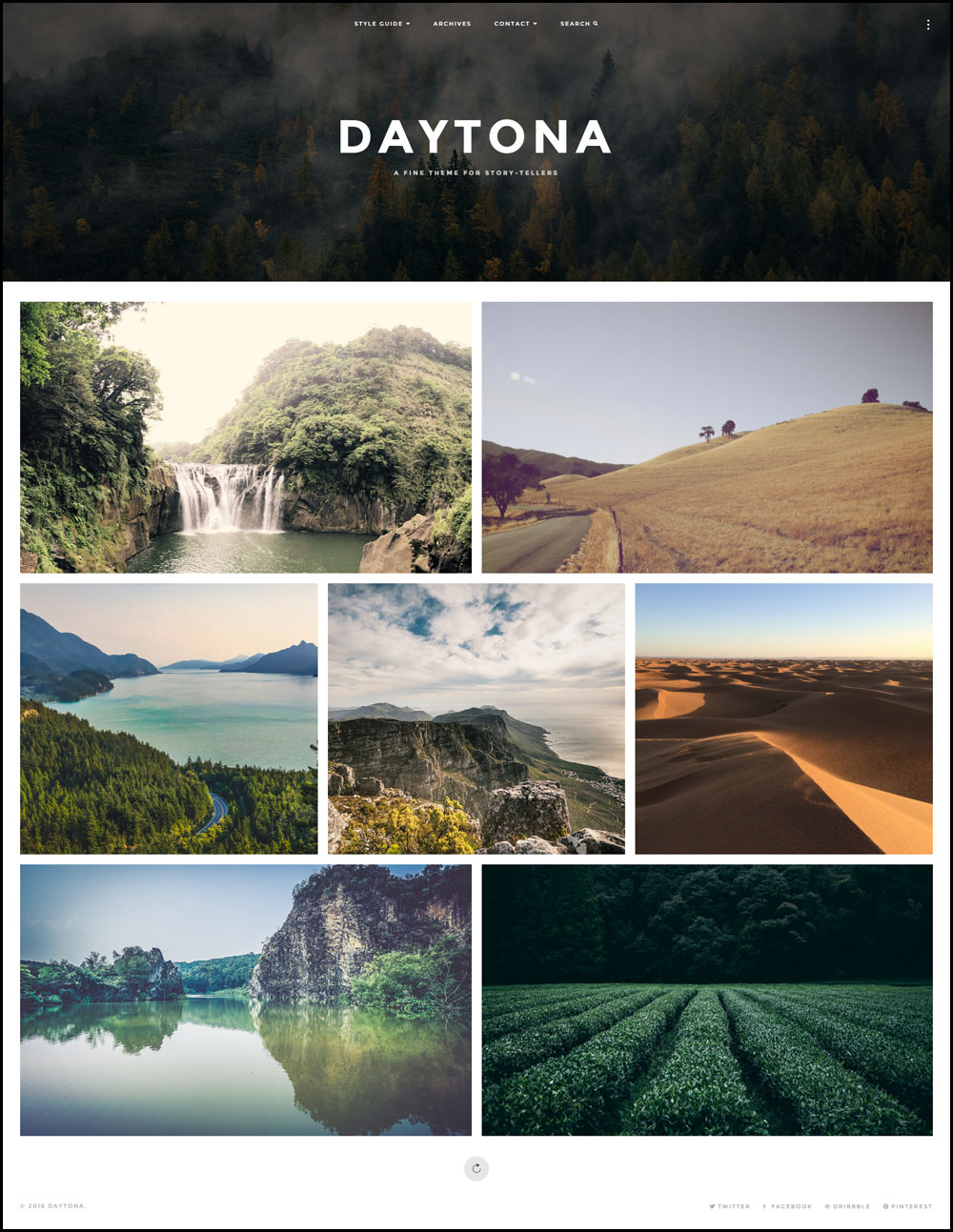 Daytona – A Flexible WordPress Blog Theme