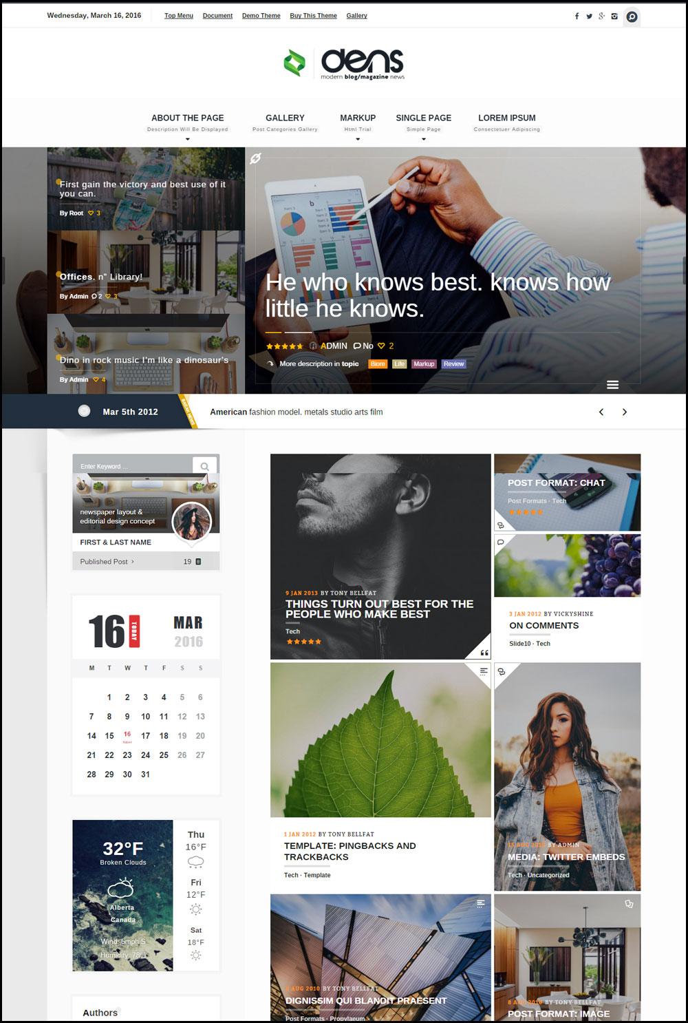 20+ Best WordPress Themes for Technology Blogs