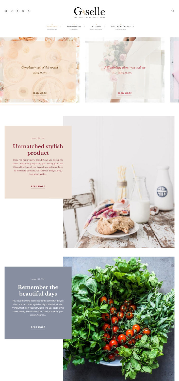 Giselle - Artistic Hobby WordPress Theme
