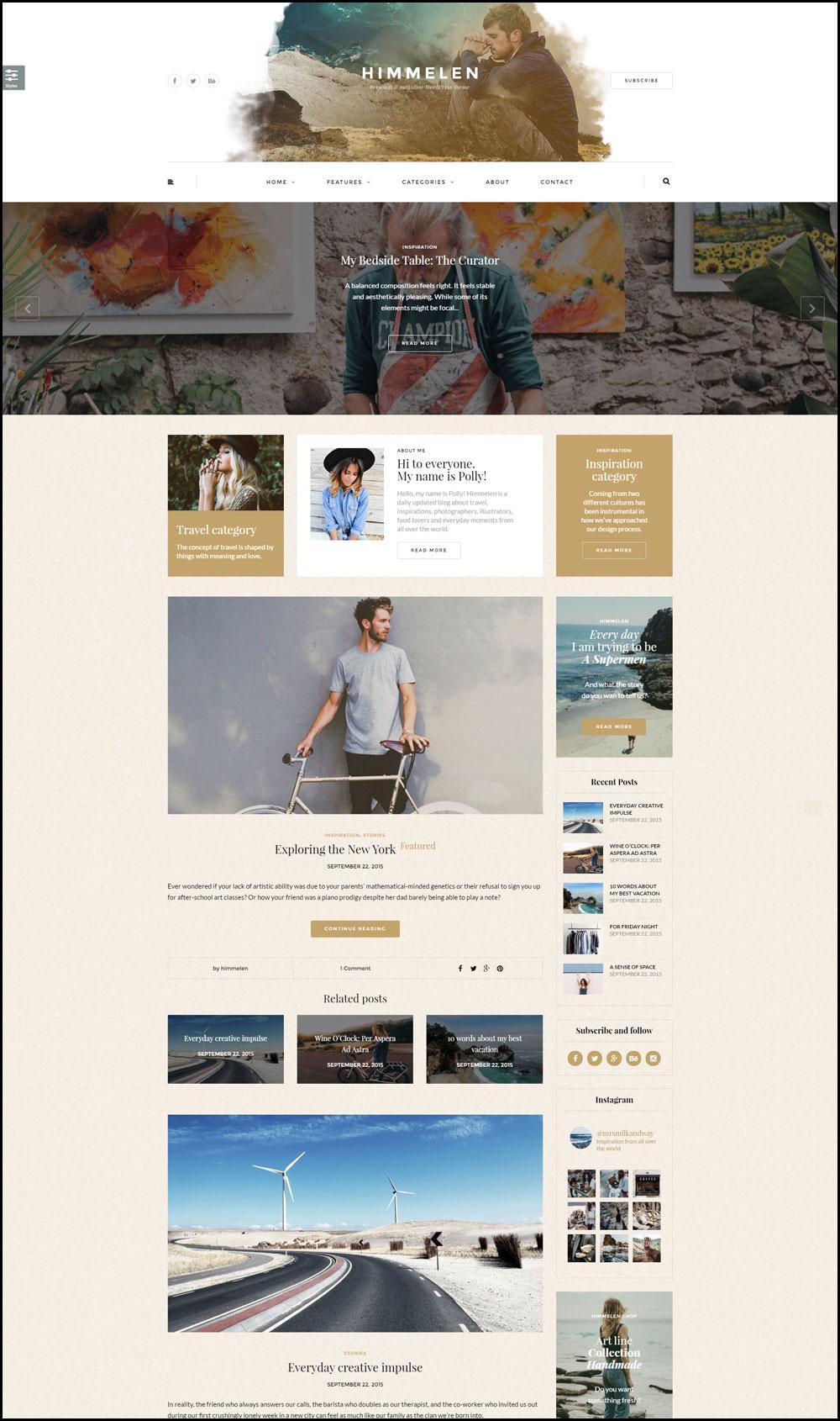 Himmelen – Personal WordPress Blog Theme