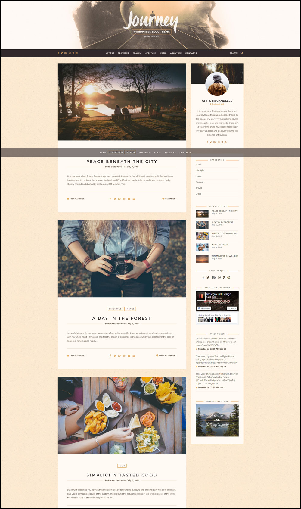 Journey – Personal WordPress Travel Themes