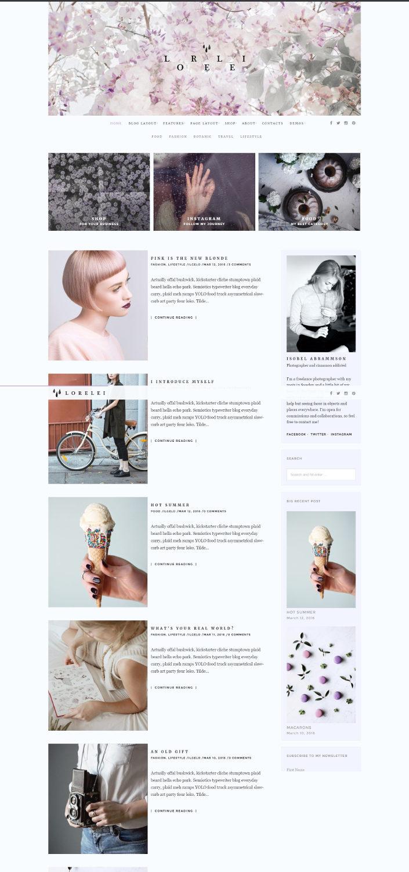 LORELEI - Creative Blog & Shop Theme