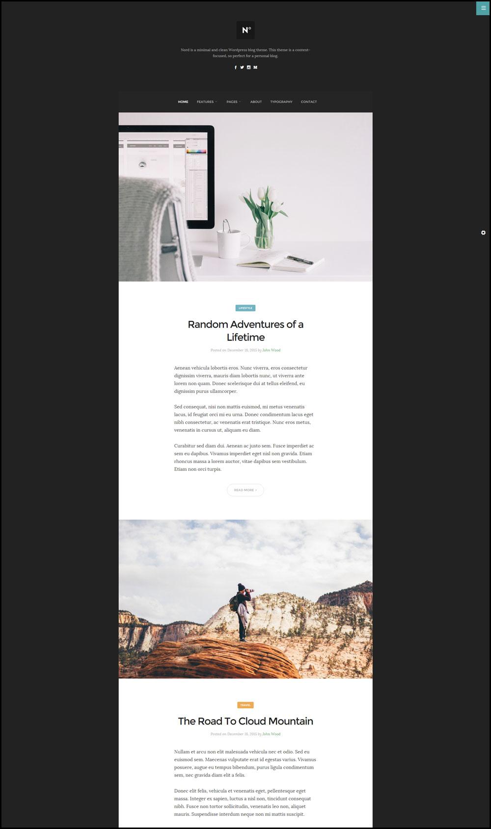 Nord – Clean Design WordPress Blog Theme