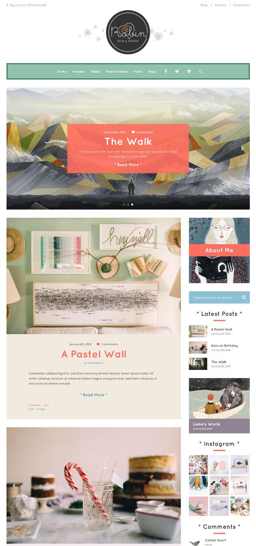 Robin - Cute & Handycraft Blog Theme