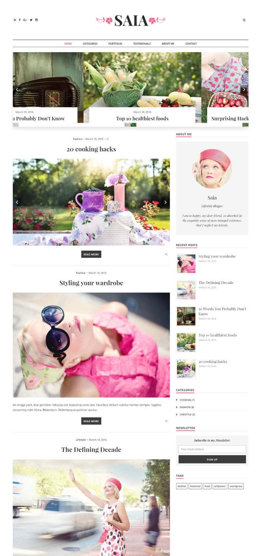 Saia - Responsive WordPress Blog Theme