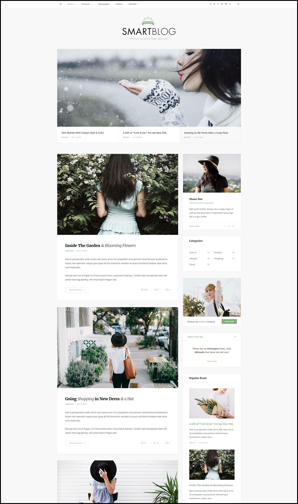 SmartBlog – Clean Design WordPress Blog Theme