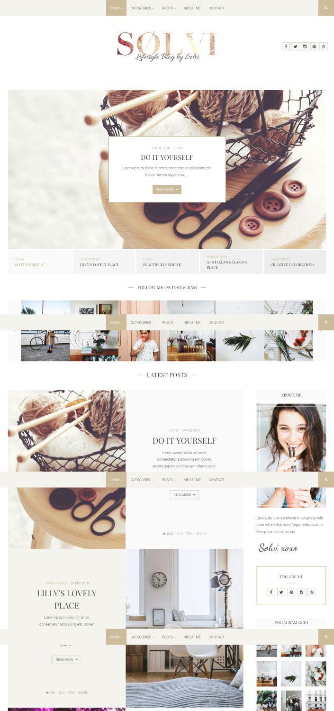 Sølvi - Beautiful & Creative Blog Theme