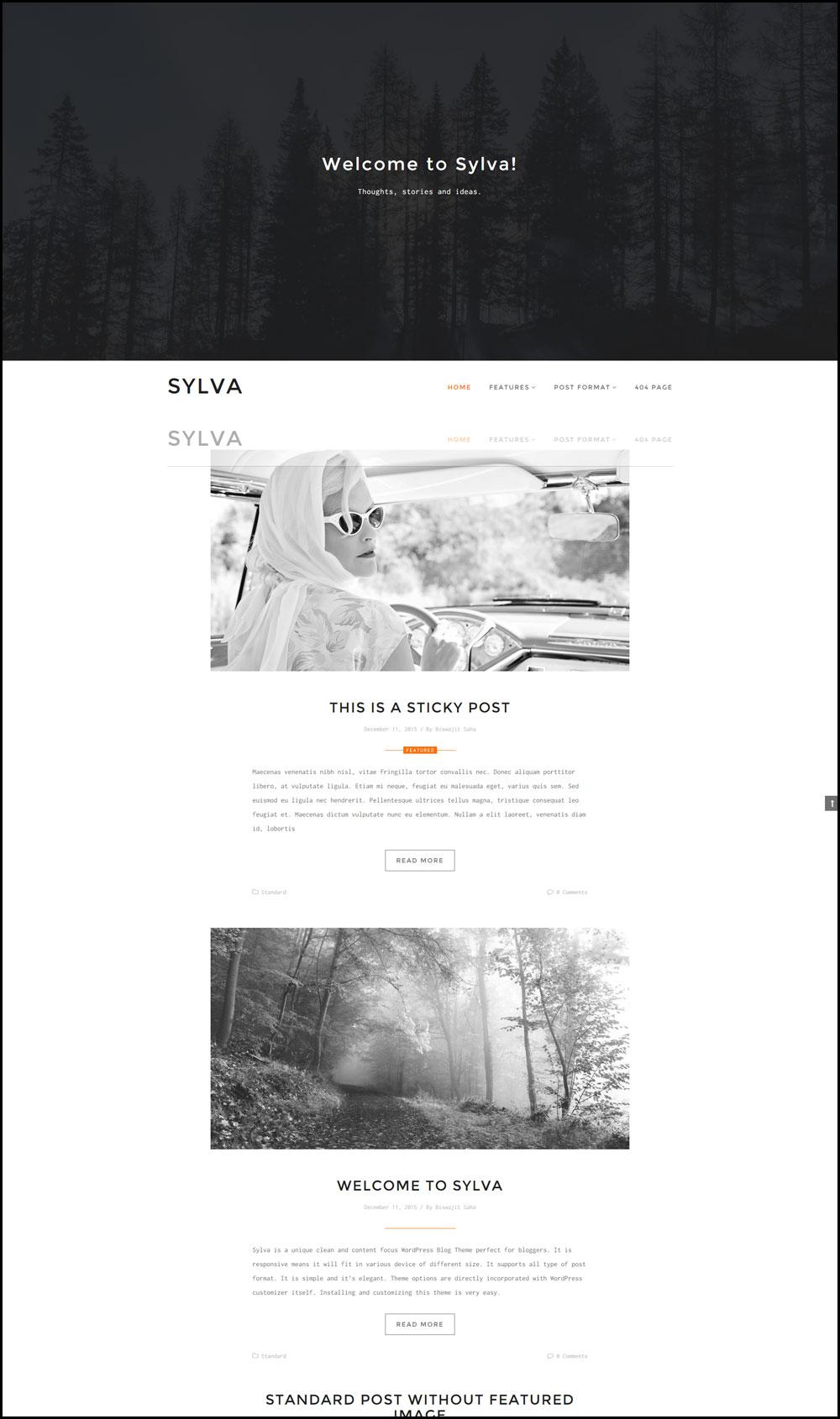 Sylva – Minimalist WordPress Travel Blog Theme