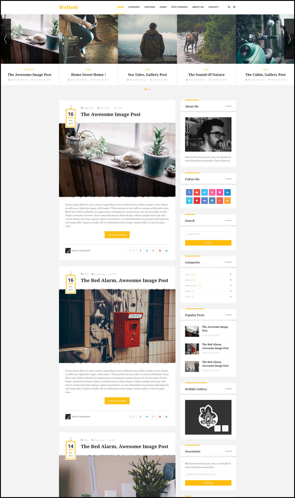 Wellow – Stylish WordPress Theme For Travel Bloggers