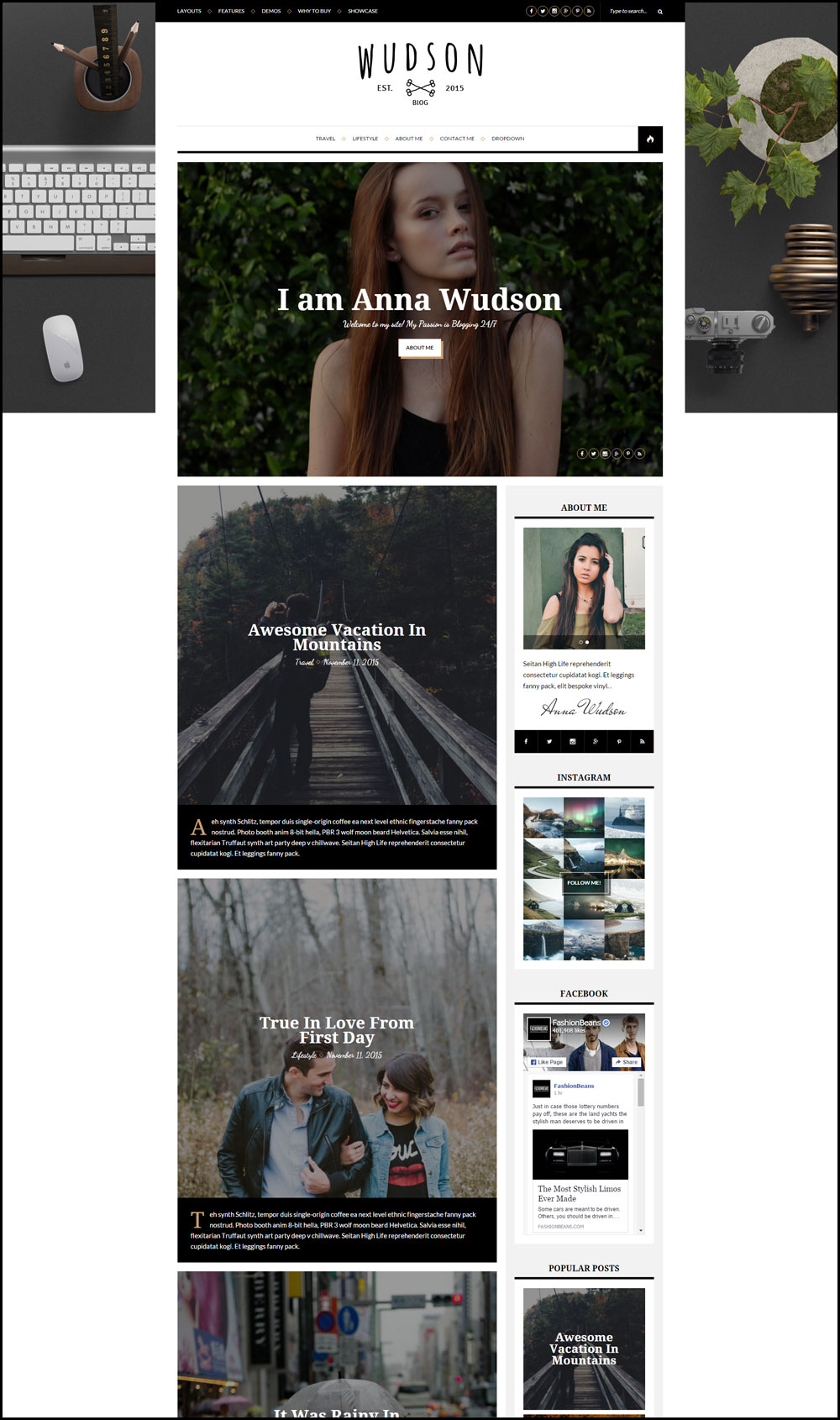 Wudson – Responsive WordPress Personal Blog Theme