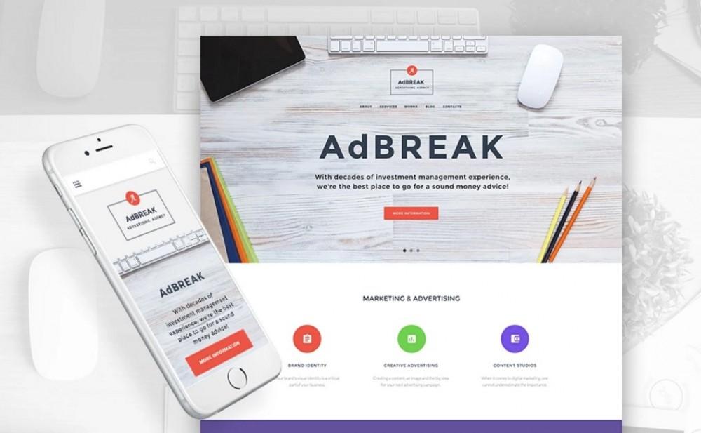 AdBreak – Magnificent Advertising Company WordPress Theme