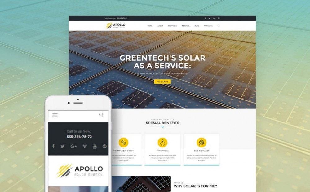 Apollo – Marvelous and Easy-to-use Solar Energy Company WordPress Theme