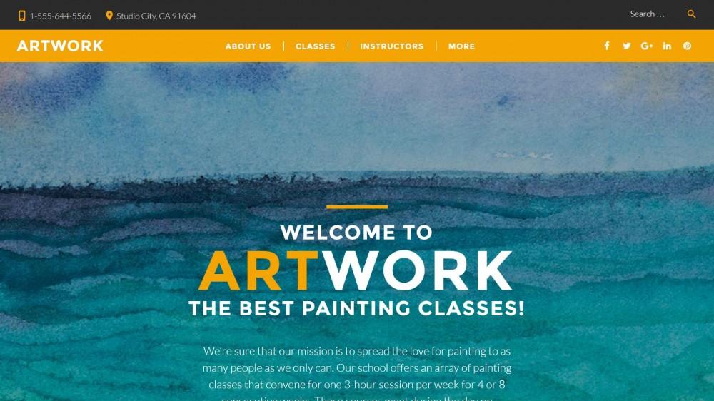ArtWork Responsive WordPress Theme