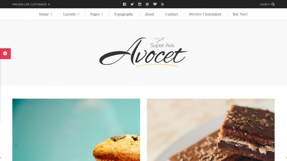 Avocet - Fashion, Food and Travel WordPress Blog Theme