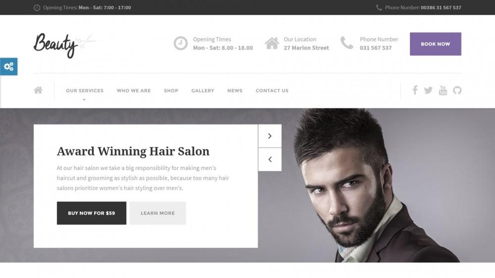 Beauty - Hair Salon, Nail, Spa, WooCommerce WordPress Theme