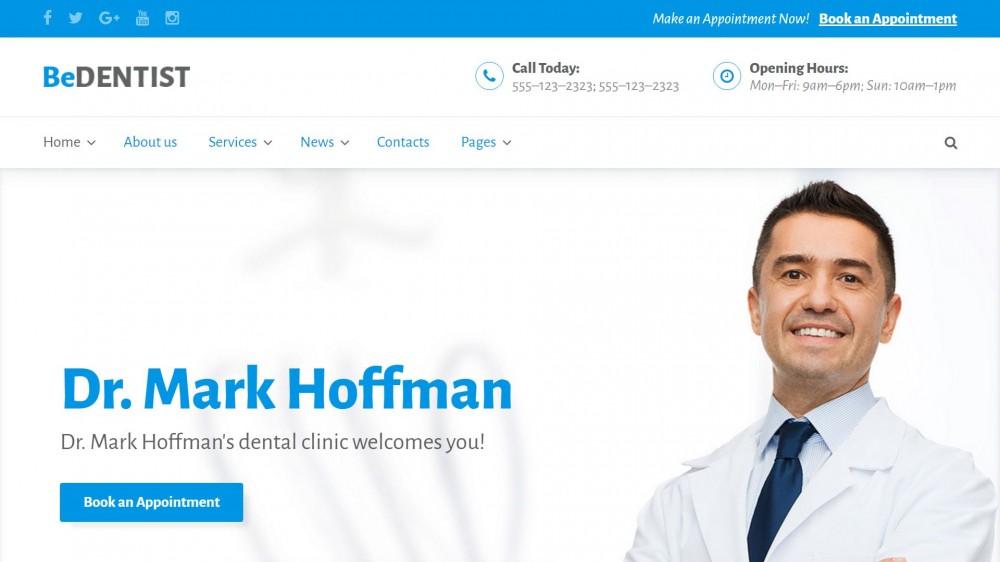 BeDentist - Dentist & Medical WordPress Themee