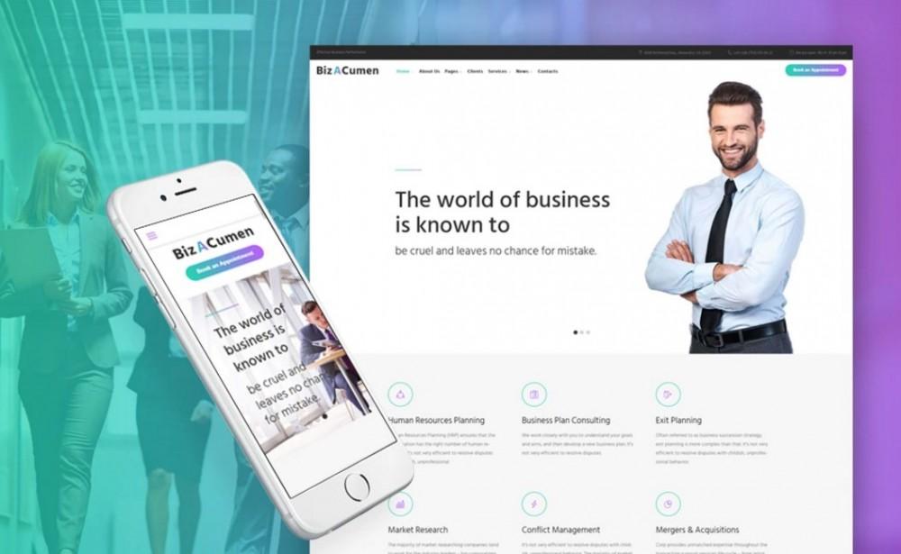 BizACumen – Pleasant Consulting WordPress Theme