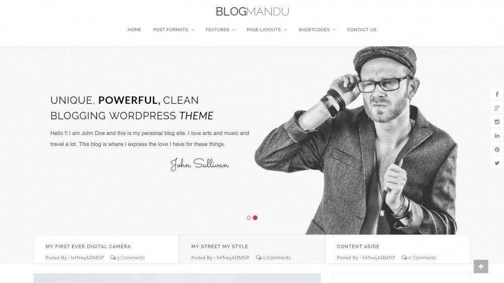 BlogMandu - Powerful & Simple WordPress Blog