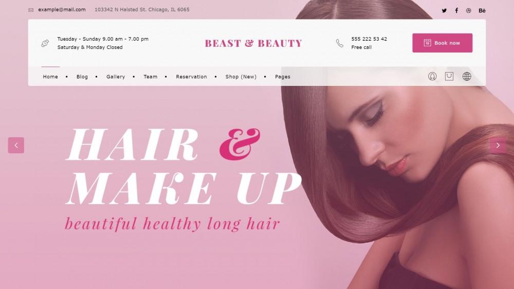 BnB - Clean design & Light Beauty Salon, Barber Shop WordPress Theme