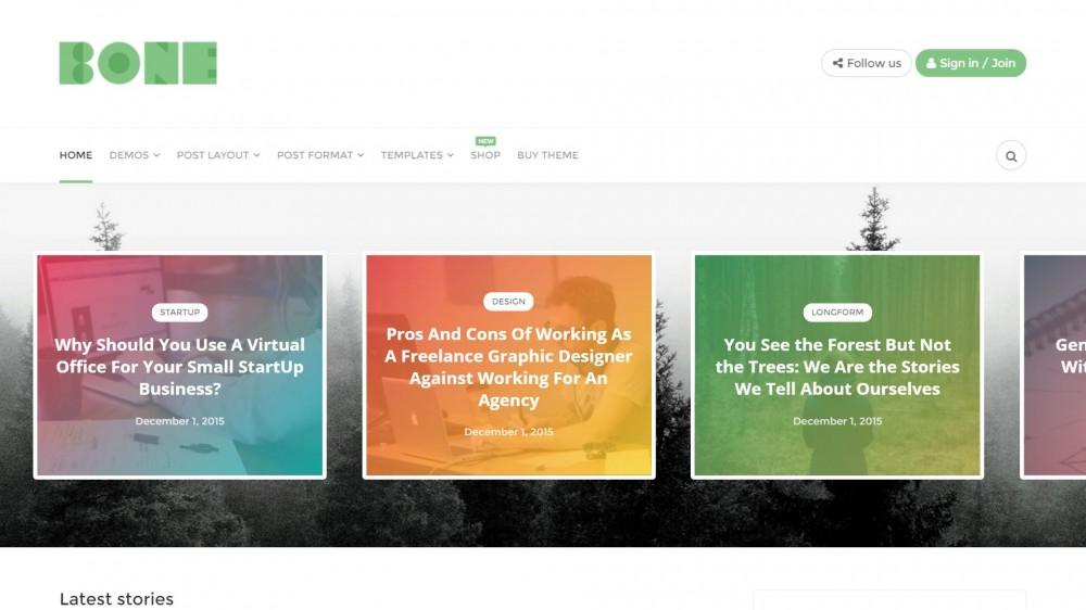 Bone - Minimalist and Modern Responsive WordPress Blog Theme