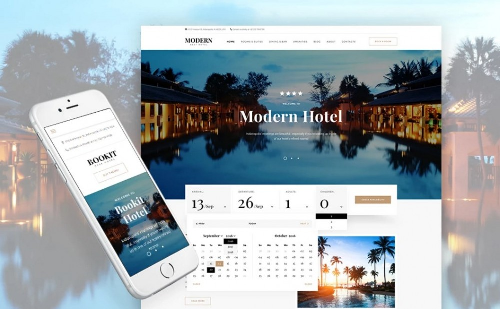 Bookit – Cozy Small Hotel WordPress Theme