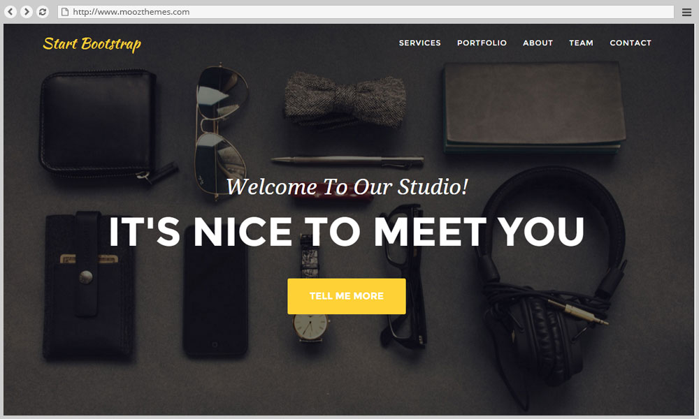 Agency - Free one page bootstrap portfolio template