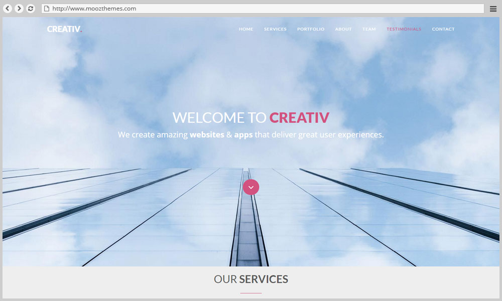 Creativ – One Page Busines Template