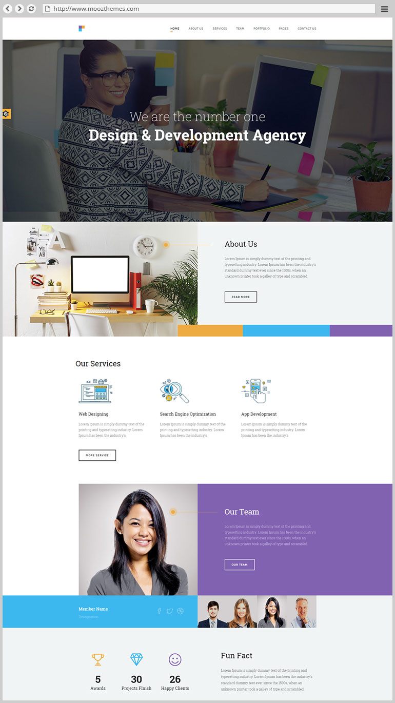 Design Agency - Corporate Business HTML5 Template