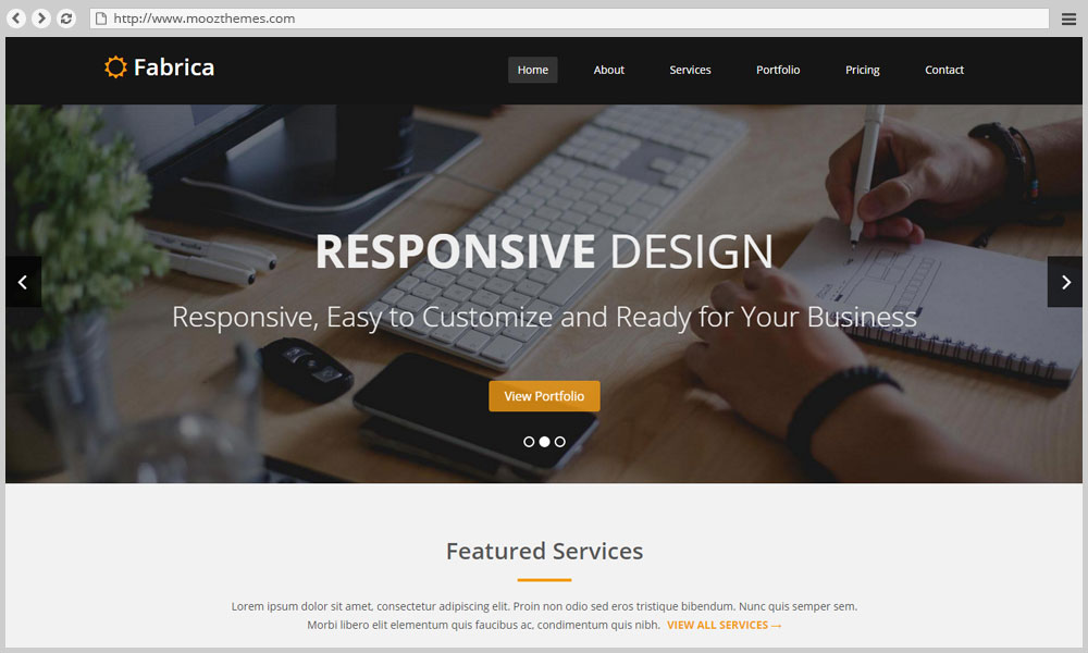 Fabrica – Bootstrap HTML5 Template