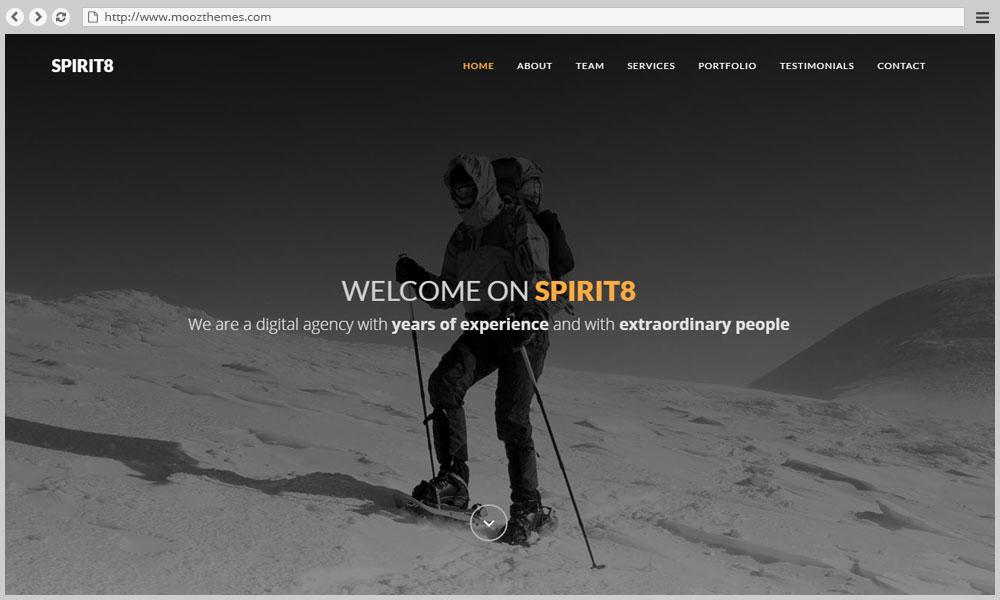 Spirit8 - Business Portfolio HTML template