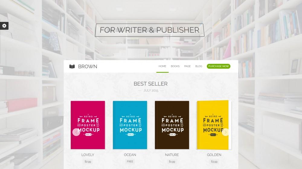 Brown - Bookstore WordPress theme