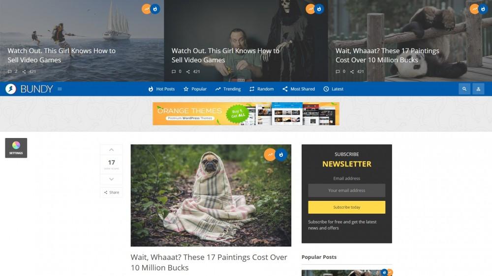 Bundy Viral WordPress Theme
