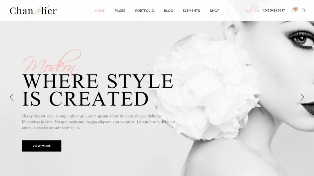 Chandelier - WordPress Theme Designed for Custom Brands