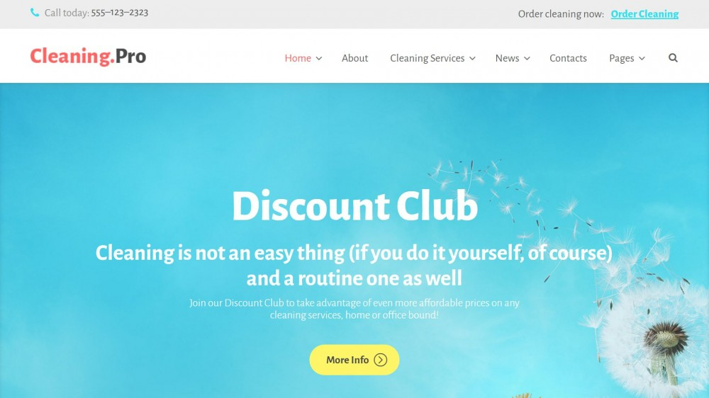 Cleaning & Maid Service Company WordPress Theme
