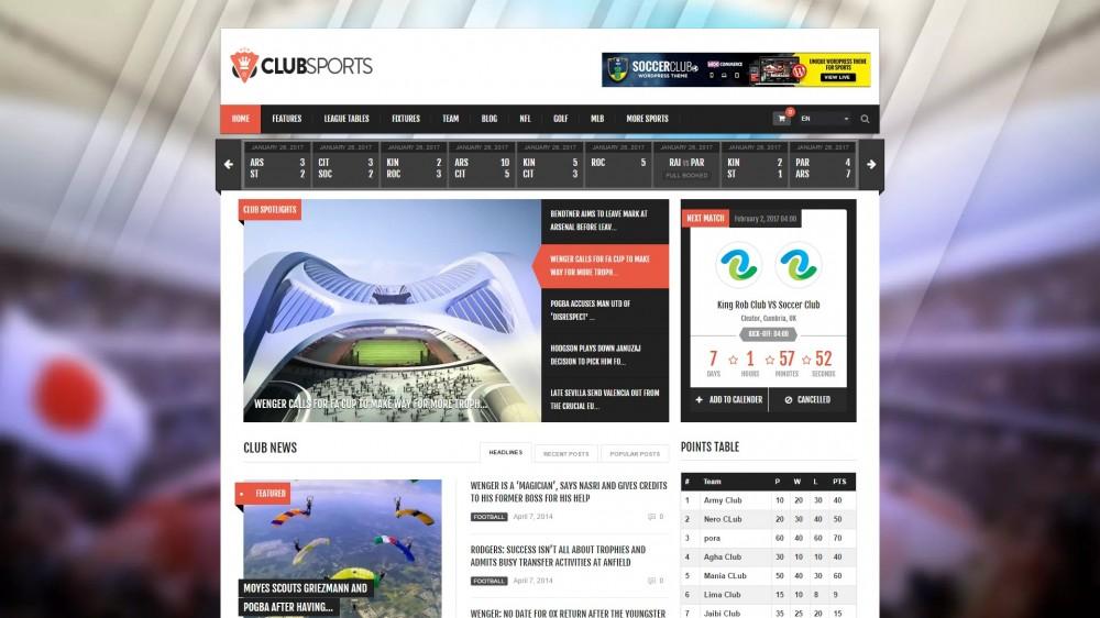 Club Sports Theme
