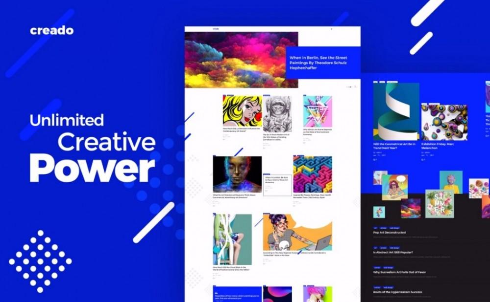 Creado – Beautiful and Strong Art Gallery WordPress Theme