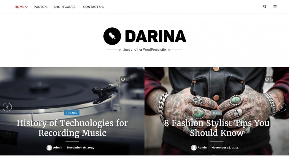 Darina - A Elegant & Minimal Gadget Blog Theme