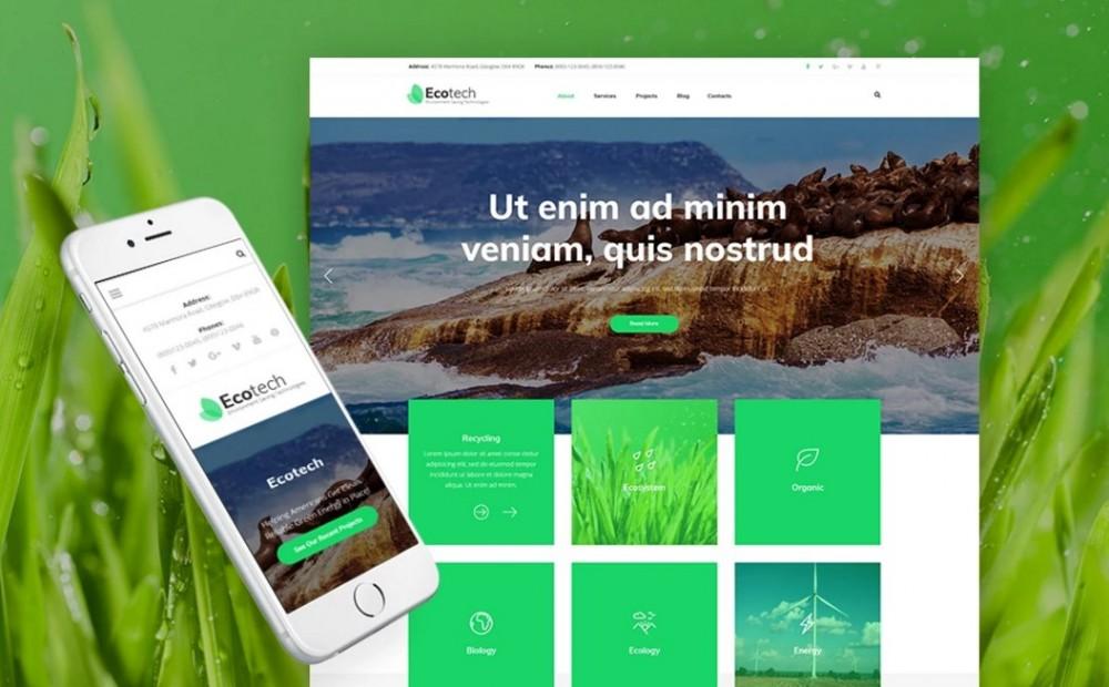 EcoTech – Modern Environment Saving Technologies WordPress Theme