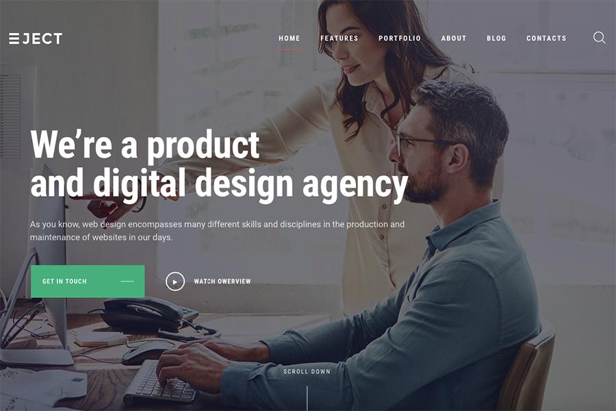 Eject - Web Studio & Creative Agency WordPress Theme