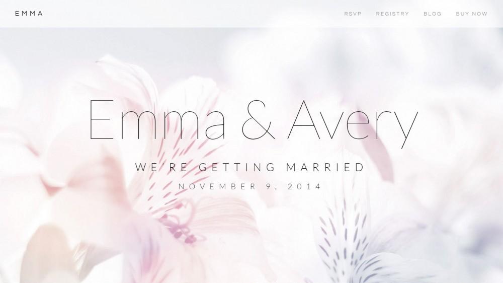 Emma - A Simple & Elegant Wedding WordPress Theme