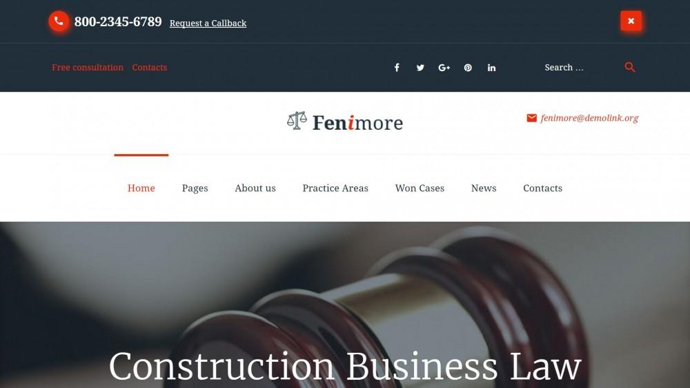 Fenimore - Law Firm WordPress Theme