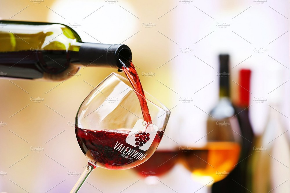 Glass of Wine Mock-up #8