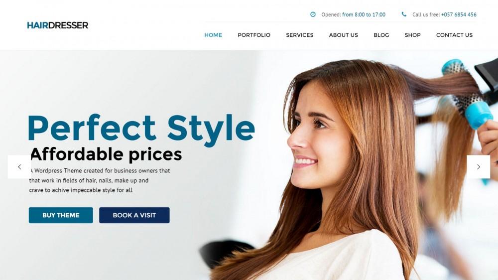 Hairdresser - Hair Salon & SPA WordPress Theme