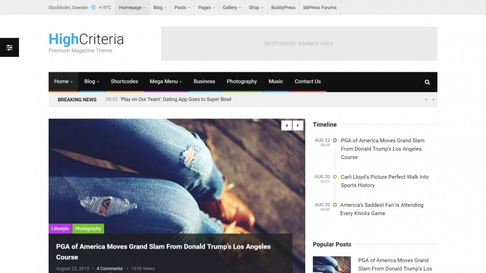 HighCriteria - Flat & Clean Blog/Magazine Theme