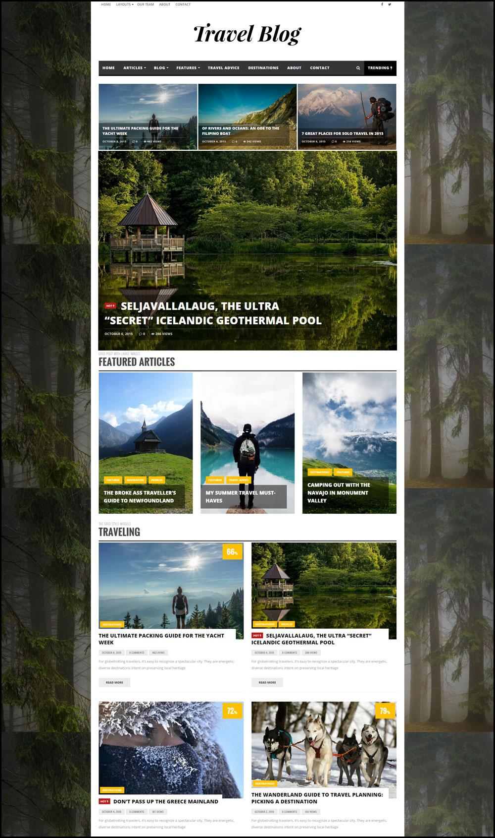 Infra – Clean & Elegant Theme For Travel Bloggers