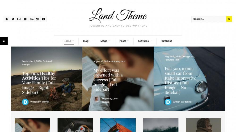 Land - A Elegant & Light WordPress Theme For Tech Bloggers